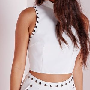 Missguided Studded Crop Top
